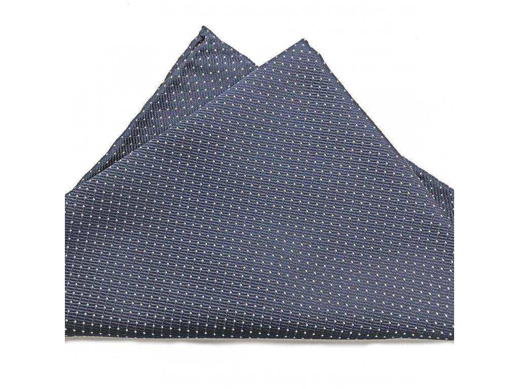 Šedý hedvábný kapesníček 01