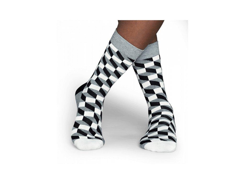 FILLED OPTIC SOCK BWG barevné ponožky Happy Socks (Velikost 41-46)