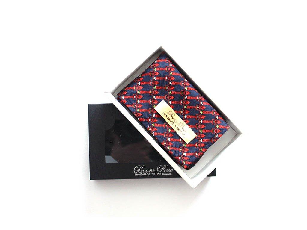 Černooranžový ornament - kapesníček do saka