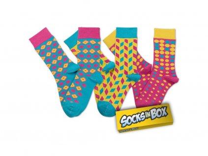 Barevné ponožky THINK PINK! unisex (Velikost pono 36-40)