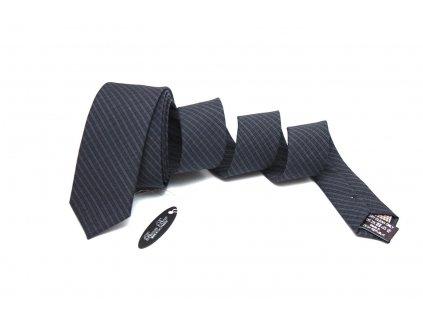 Tmavě šedá pruhovaná kravata