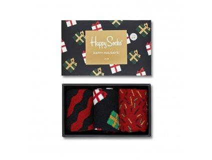 barevné vánoční ponožky happy socks XMAS08 7001 komplet