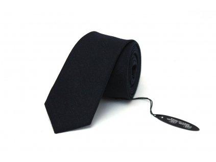 3828 cerna vlnena kravata slim