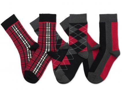 barevne ponozky socksinbox red hot