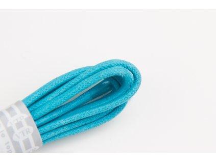 Tyrkysové voskované tkaničky (Délka tkaniček 90 cm - 1 pár)