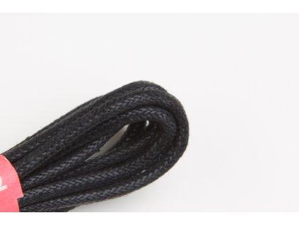 Černé voskované tkaničky do bot (Délka tkaniček 90 cm - 1 pár)