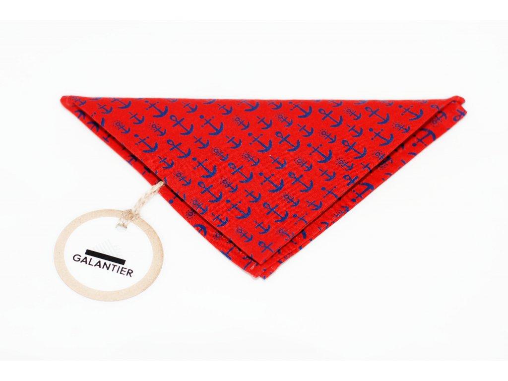 3237 cerveny kapesnicek do klopy s kotvami