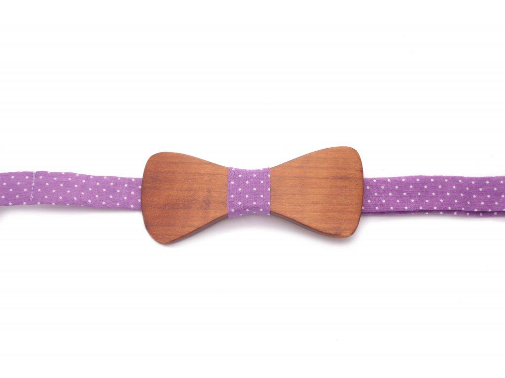 4152 dreveny motylek s fialovou latkou