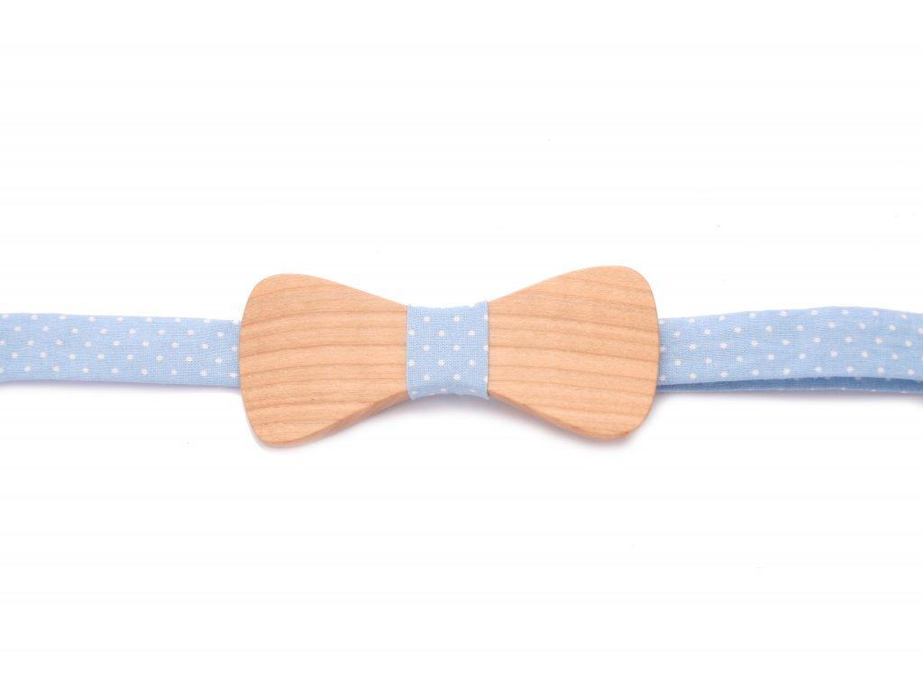 4155 dreveny motylek s modrou latkou