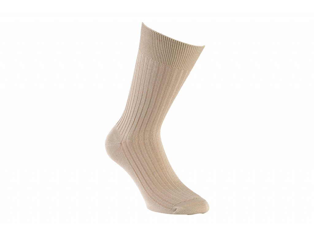 Béžové ponožky Bexley (Velikost pono FR 45-46, UK 11-12, US 12-13)