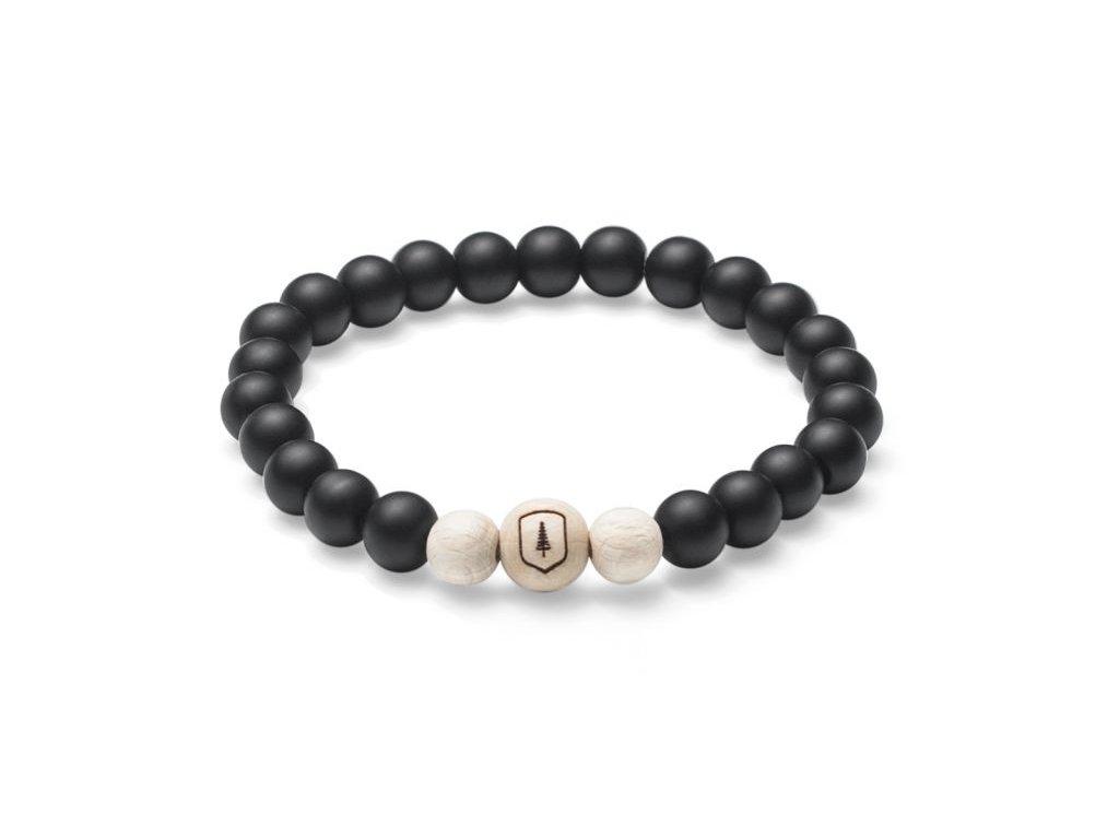 Černý korálkový náramek se dřevem 0 bellis bracelet