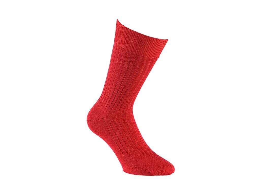 Červené ponožky Bexley (Velikost pono FR 45-46, UK 11-12, US 12-13)