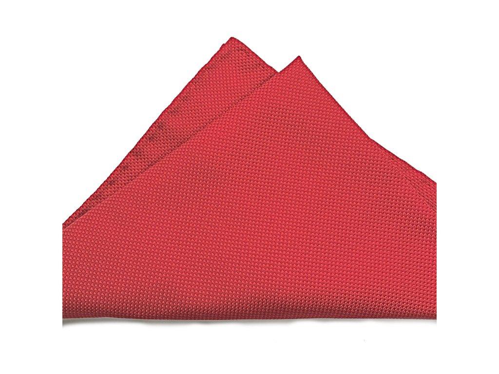 Červený hedvábný kapesníček 01