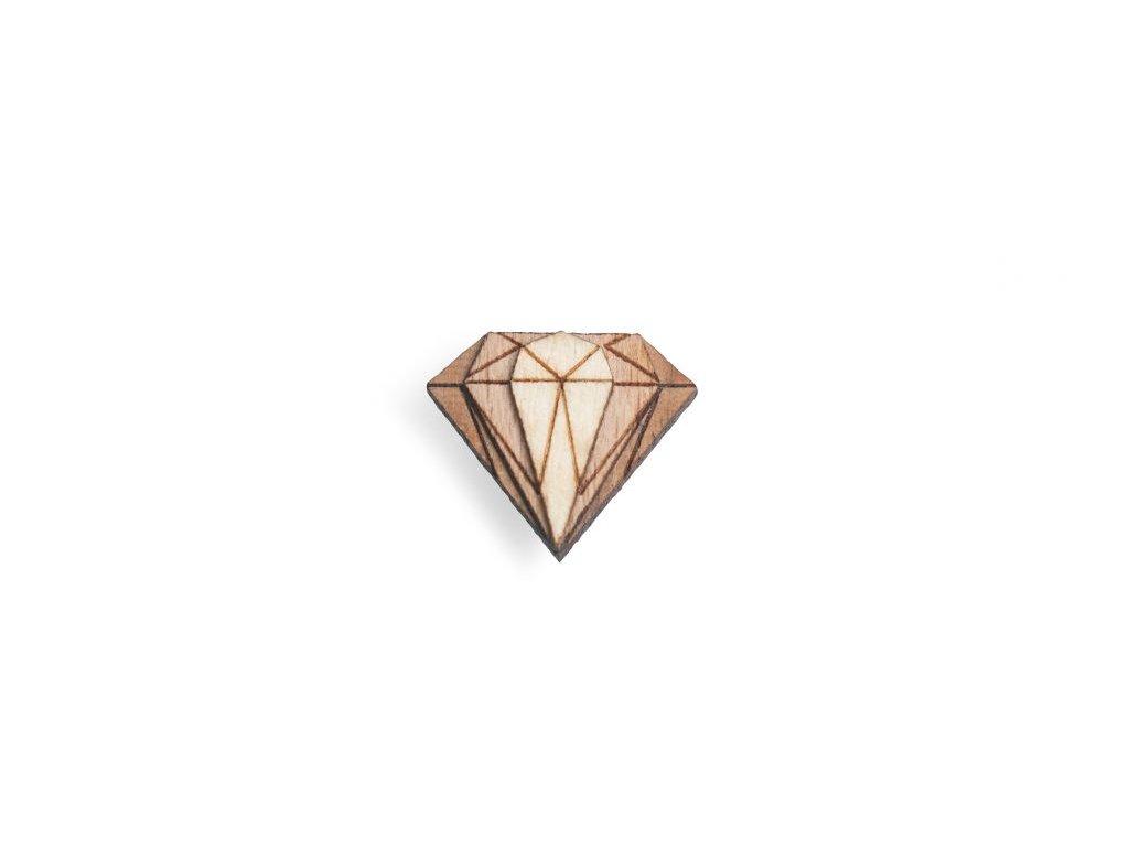 drevena ozdoba do saka diamond lapel pro muze