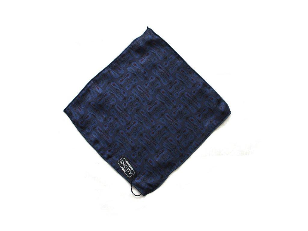 Fialovo modrý kapesníček vzorovaný 2