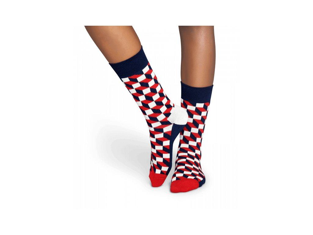 FILLED OPTIC SOCK barevné ponožky Happy Socks (Velikost 36-40)
