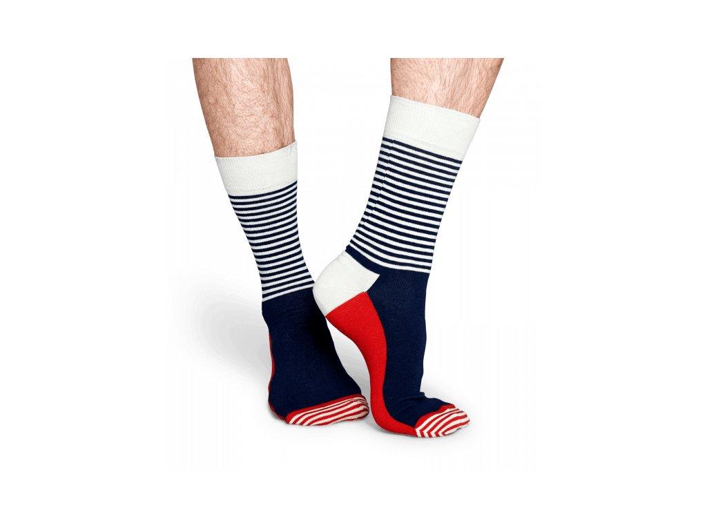 2076 half stripe sock bwr barevne ponozky happy socks