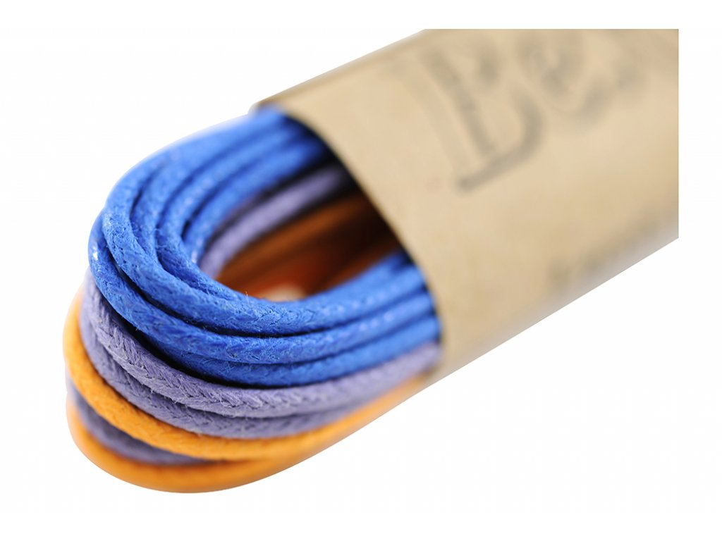 Kulaté tkaničky do bot 75 cm MOP (Barva purpurová, Balení 1 pár)