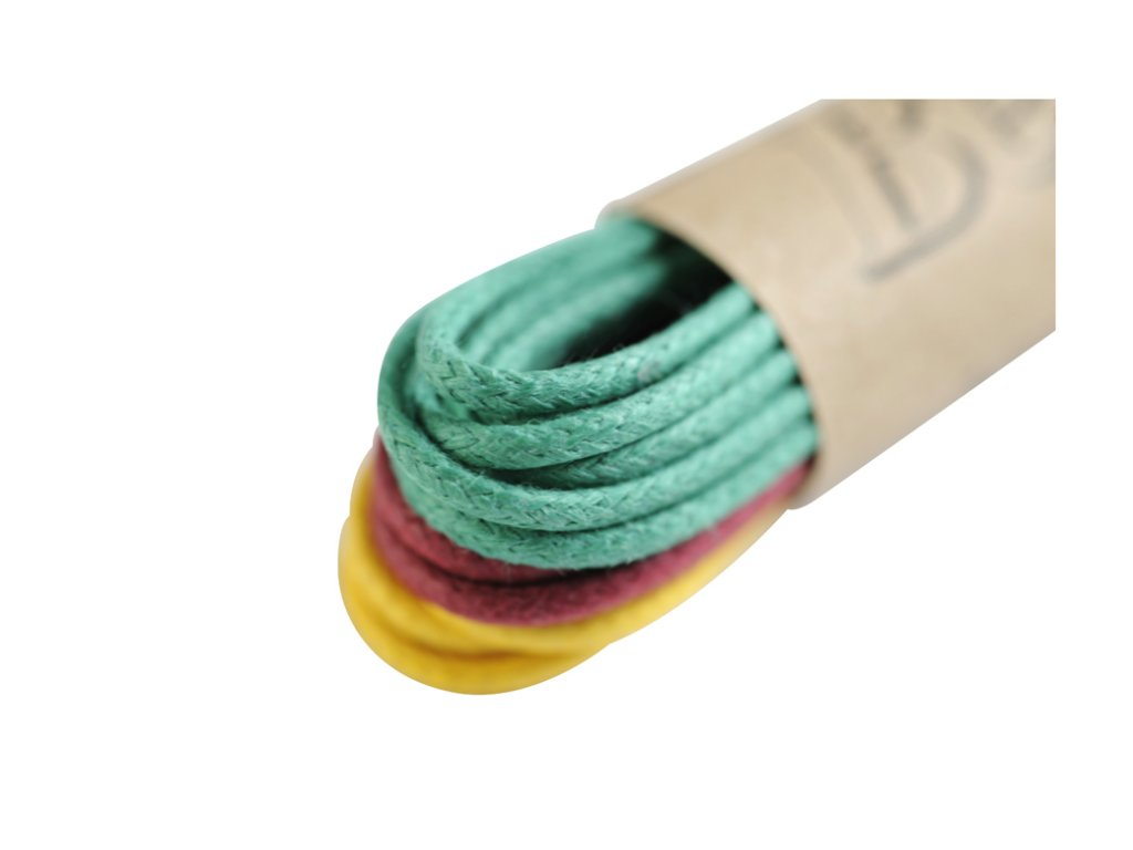 Kulaté tkaničky do bot 75 cm ZŽB (Barva zelenožlutoburundi, Balení 3 ks)