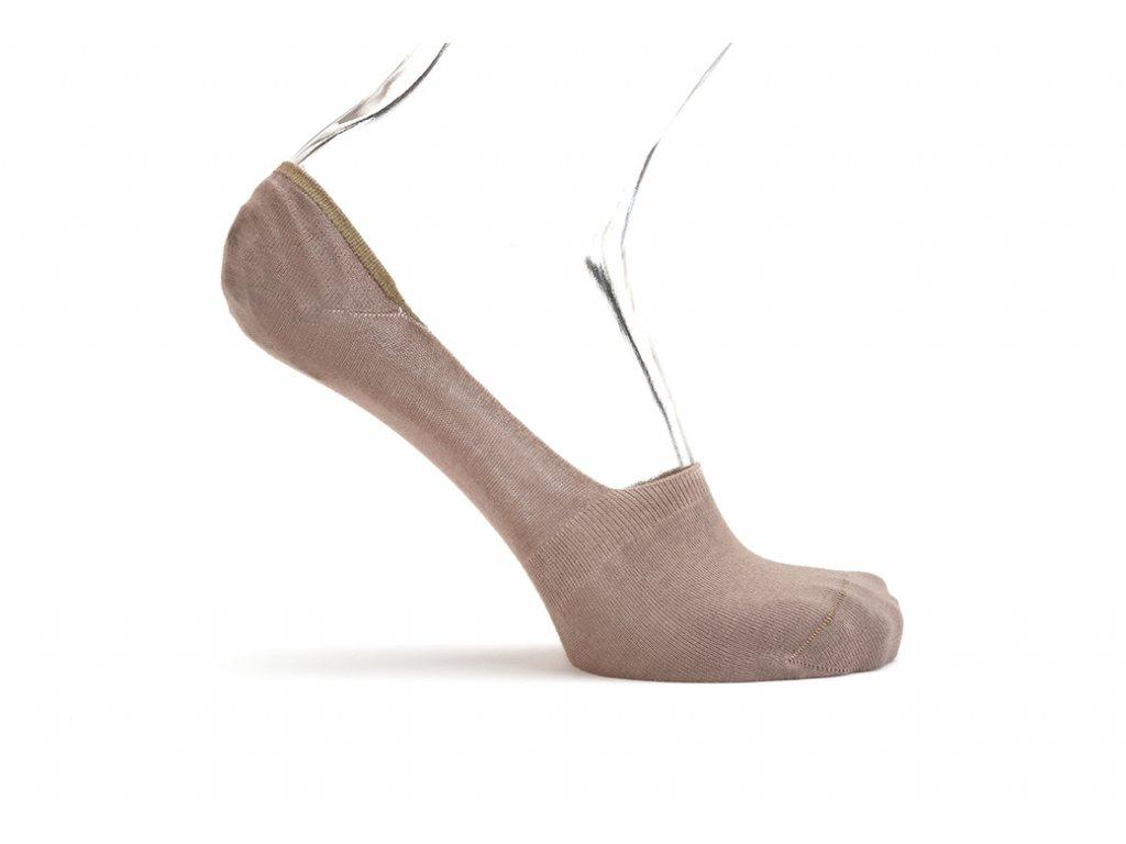 Neviditelné ponožky do mokasín (Barva Béžová, Velikost 45-46)