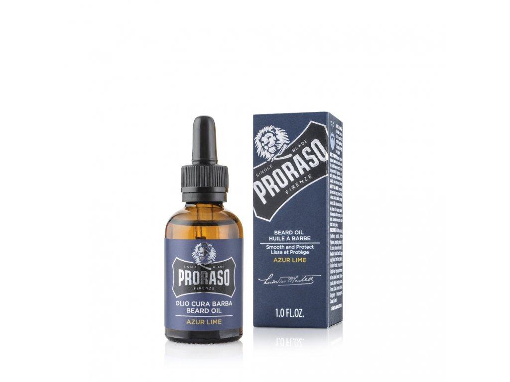 2489 proraso olej na vousy azur lime 30 ml