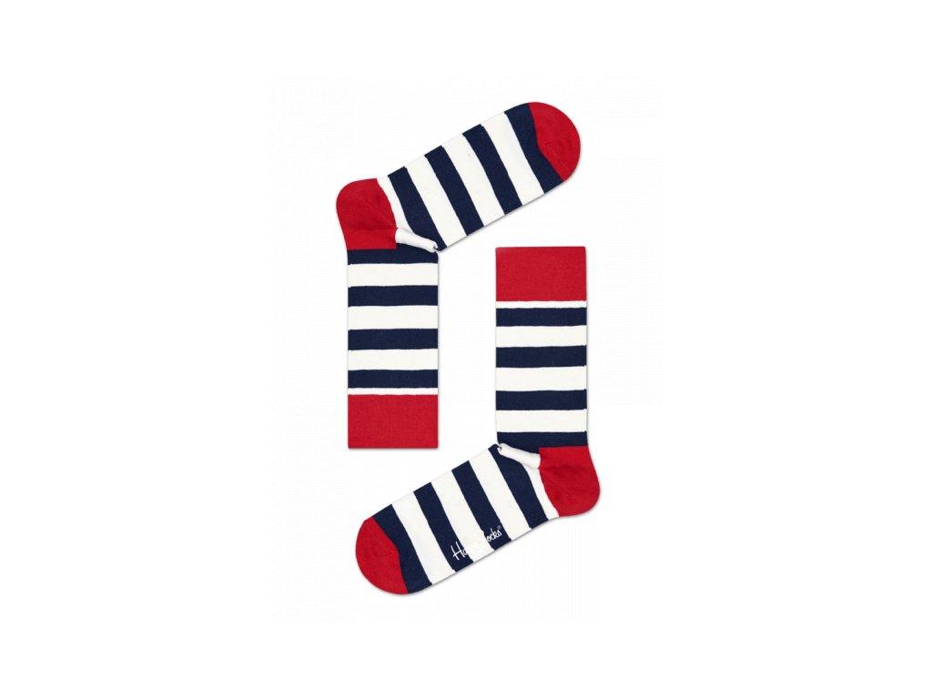 STRIPE SOCK BWR barevné ponožky Happy Socks