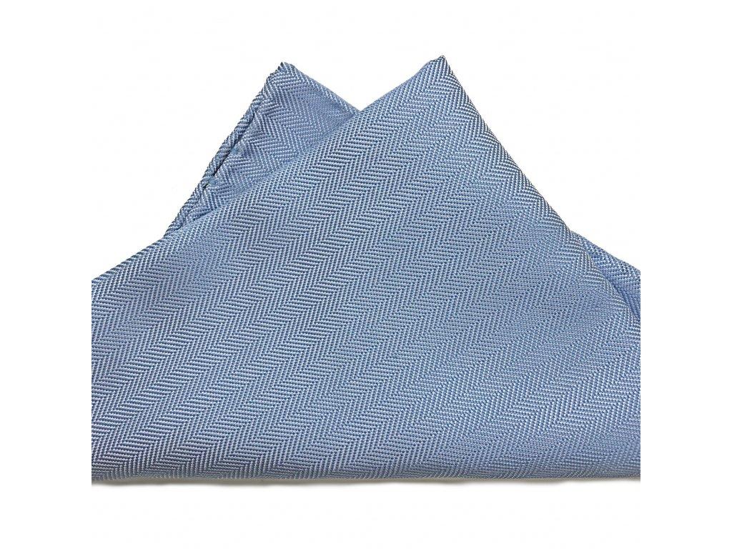 Světle modrý hedvábný kapesníček 01