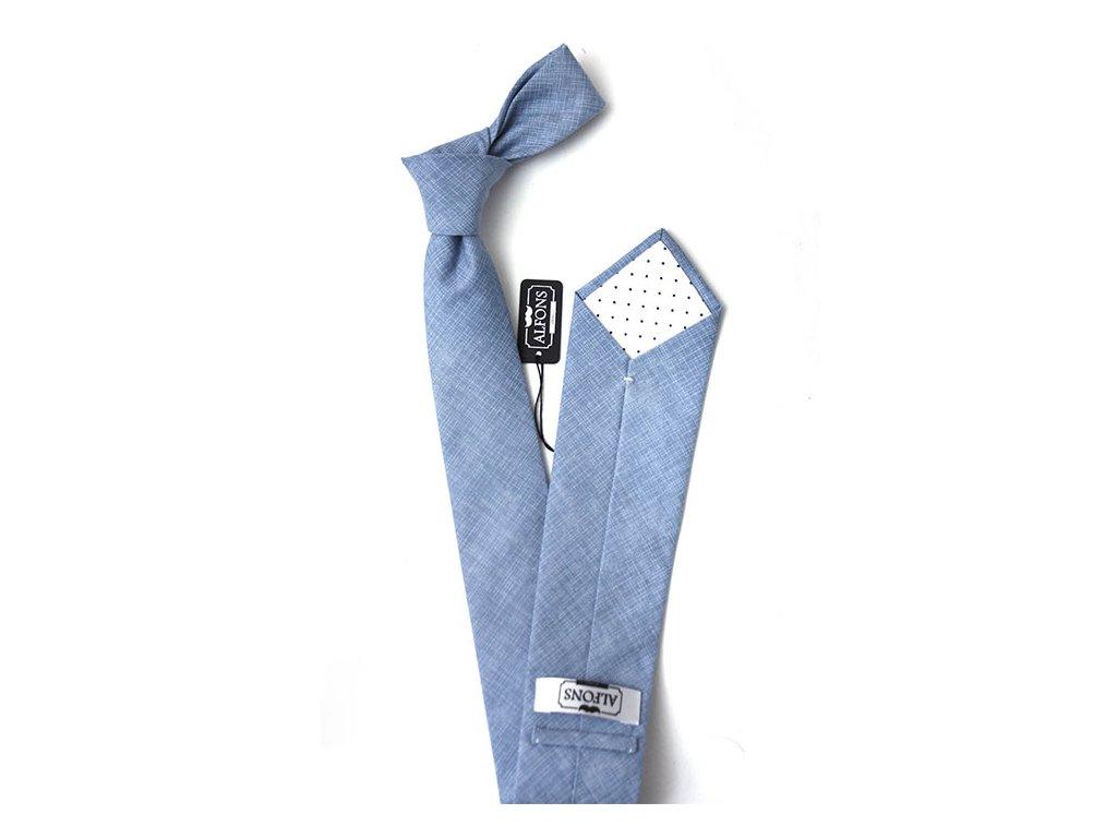 sedo modra kravata s jemnou bilou texturou 02