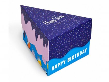 Dárková krabička 3 páry Happy Socks - Happy Birthday (XBDA08-6001) (Velikost ponožek 36-40)