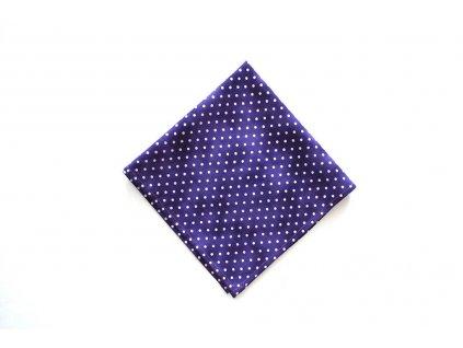 fialovy kapesnicek do saka s puntiky 3