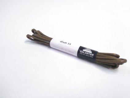 Hnědé voskované tkaničky (Délka tkaniček 90 cm - 1 pár)