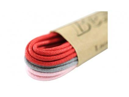 Kulaté tkaničky do bot 75 cm ŠRČ (Barva růžová, Balení 1 pár)