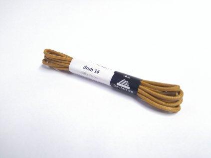 Světle hnědé voskované tkaničky (Délka tkaniček 90 cm - 1 pár)