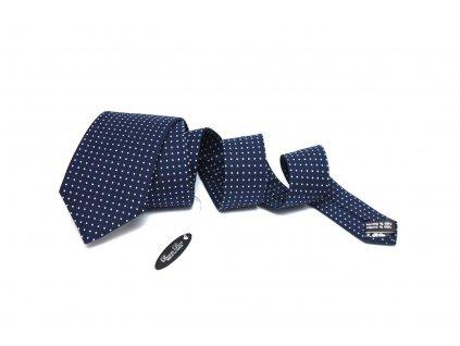 2342 tmave modra kravata s puntiky