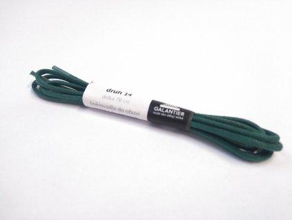 Zelené voskované tkaničky (Délka tkaniček 90 cm - 1 pár)