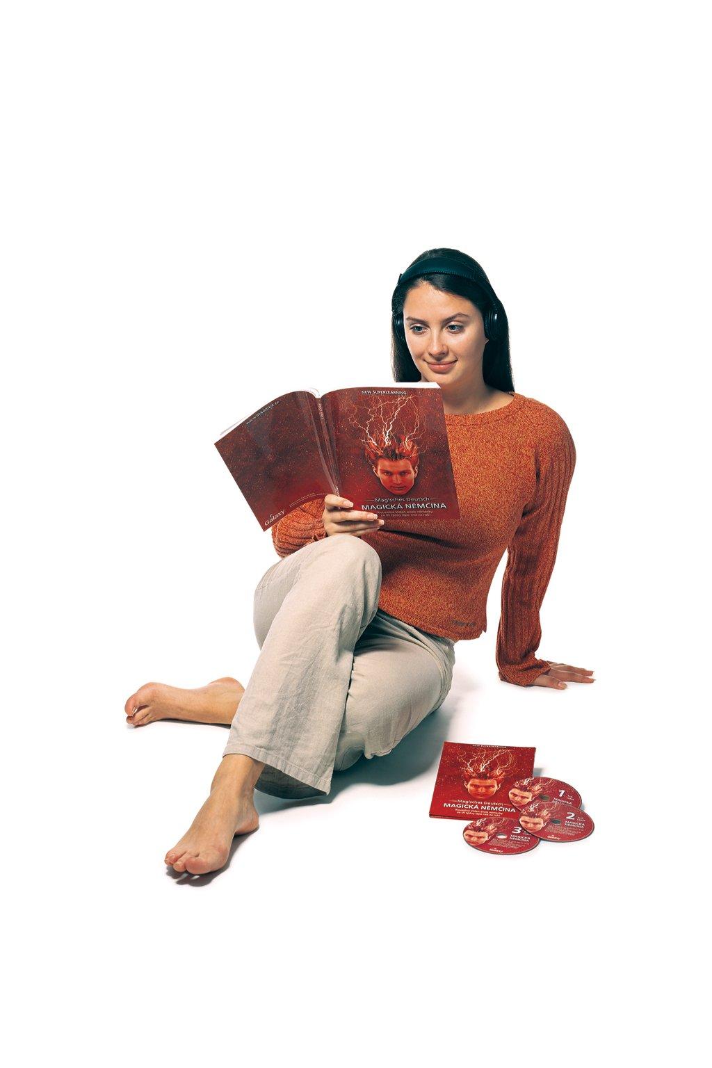 Němčina Vanda sedici s knihou (1)