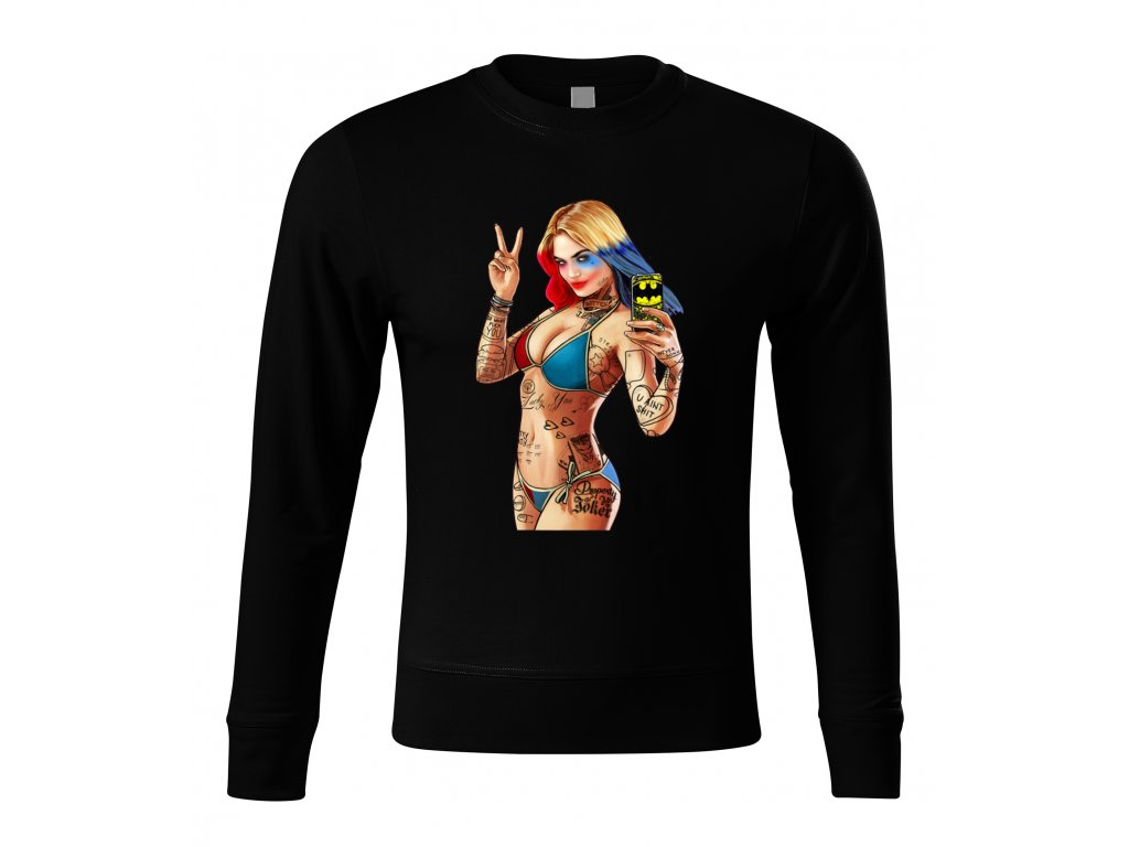Mikina bez kapuce GTA Harley Quinn