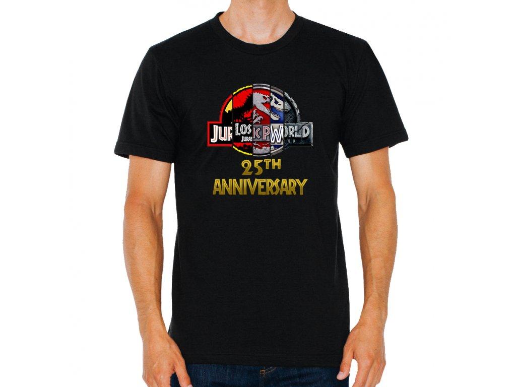 pánské černé tričko jurský park 25 výročí