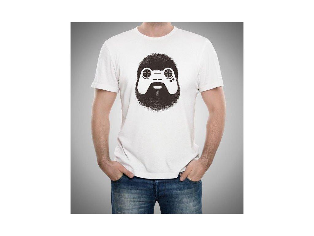 pánské bílé tričko gamer