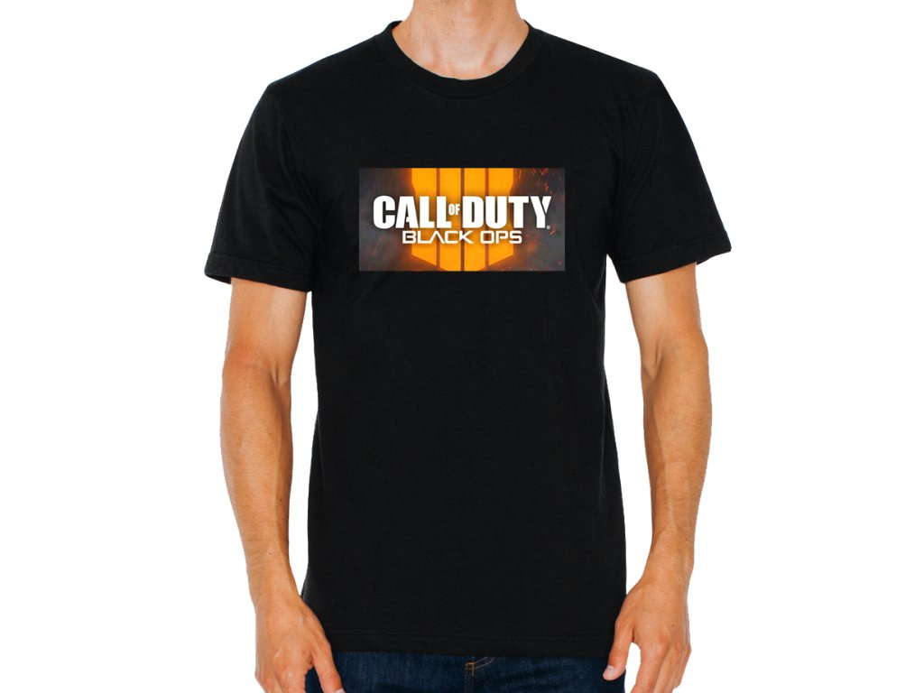 pánské černé tričko Cod call of duty black opps