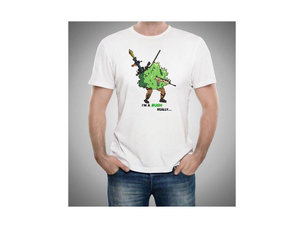 4044bf3a6fb Pánské tričko Fortnite - Já jsem keř - GalaxyShop.cz