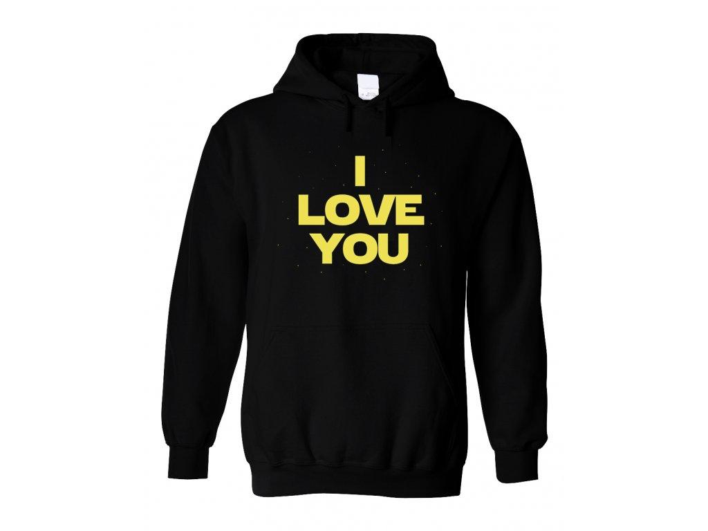 Mikina s kapucí Star Wars Miluji tě