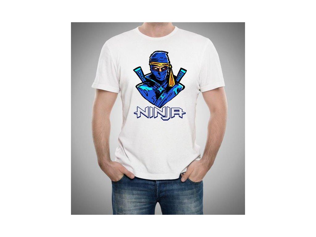 pánské bílé tričko Fortnite Ninja