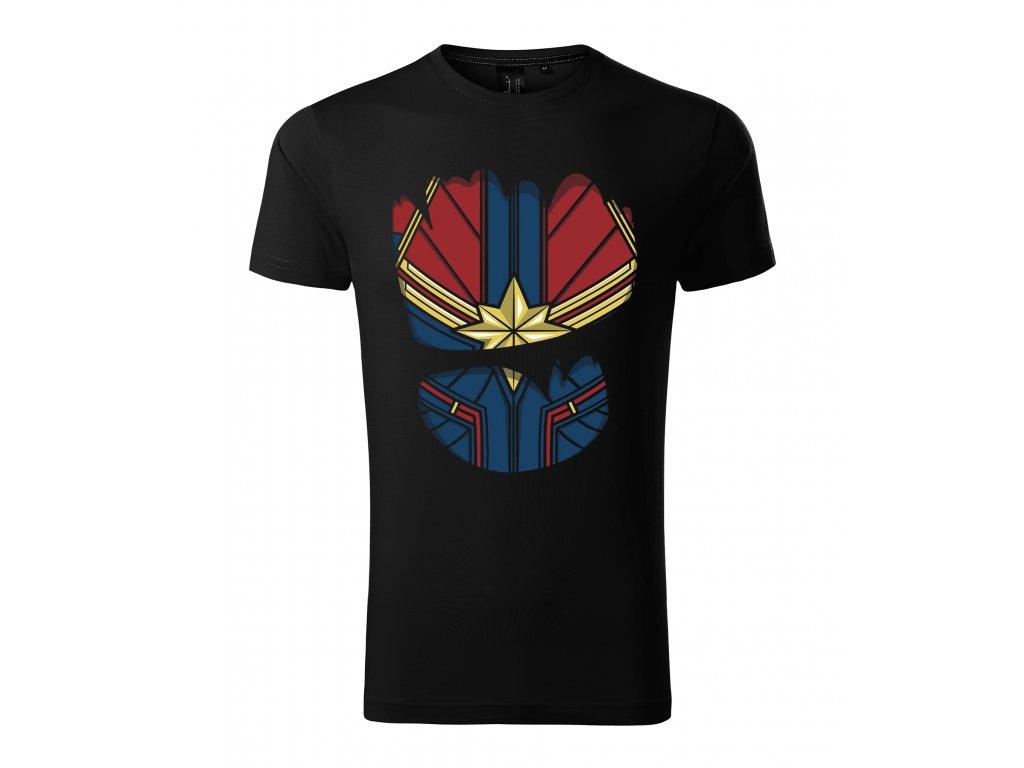 Pánské tričko Captain Marvel oblek