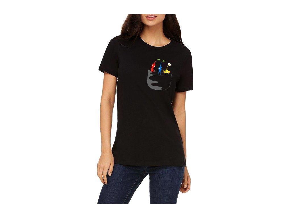 Dámské tričko Pikmin kapsička