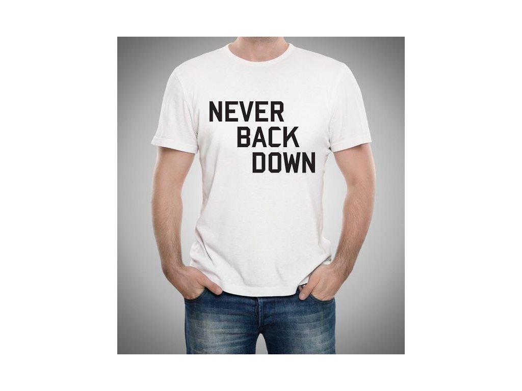 pánské tričko Nikdy to nevzdávej