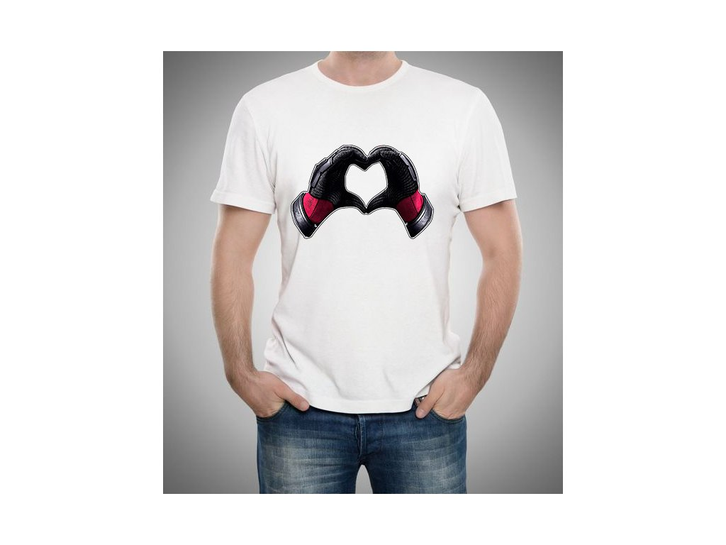 pánské tričko Deadpool srdce