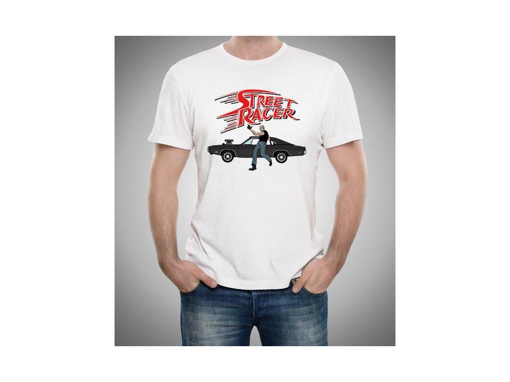 pánské bílé tričko Rychle a zběsile dominik torreto