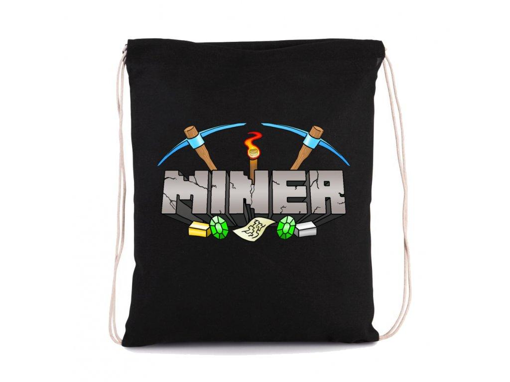 vak na záda Minecraft Miner