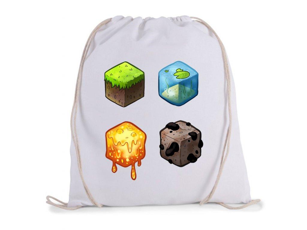 vak na záda Minecraft kostky